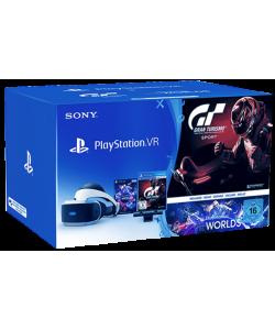Playstation VR + Playstation Camera + Gran Turismo Sport + VR Worlds