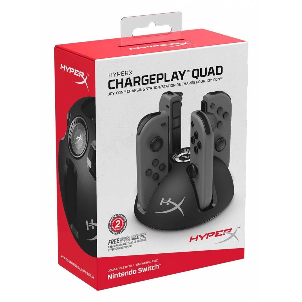 Зарядная станция Kingston HyperX ChargePlay Quad Joy-con для Nintendo Switch V1/V2 (Kingston HyperX ChargePlay Quad Joy-con Nintendo Switch V1/V2) фото 4