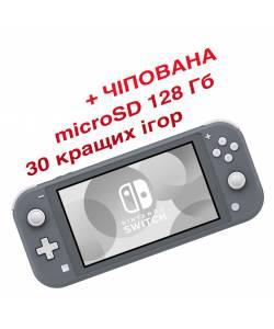 Nintendo Switch Lite Grey (Чіпована) + microSD 128 Гб + 30 кращих ігор
