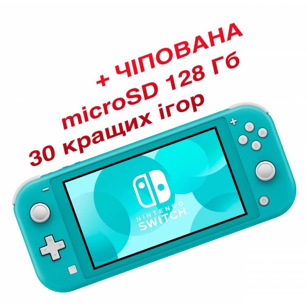 Nintendo Switch Lite Turquoise (Чіпована) + microSD 128 Гб + 30 кращих ігор (Nintendo Switch Lite) фото 2
