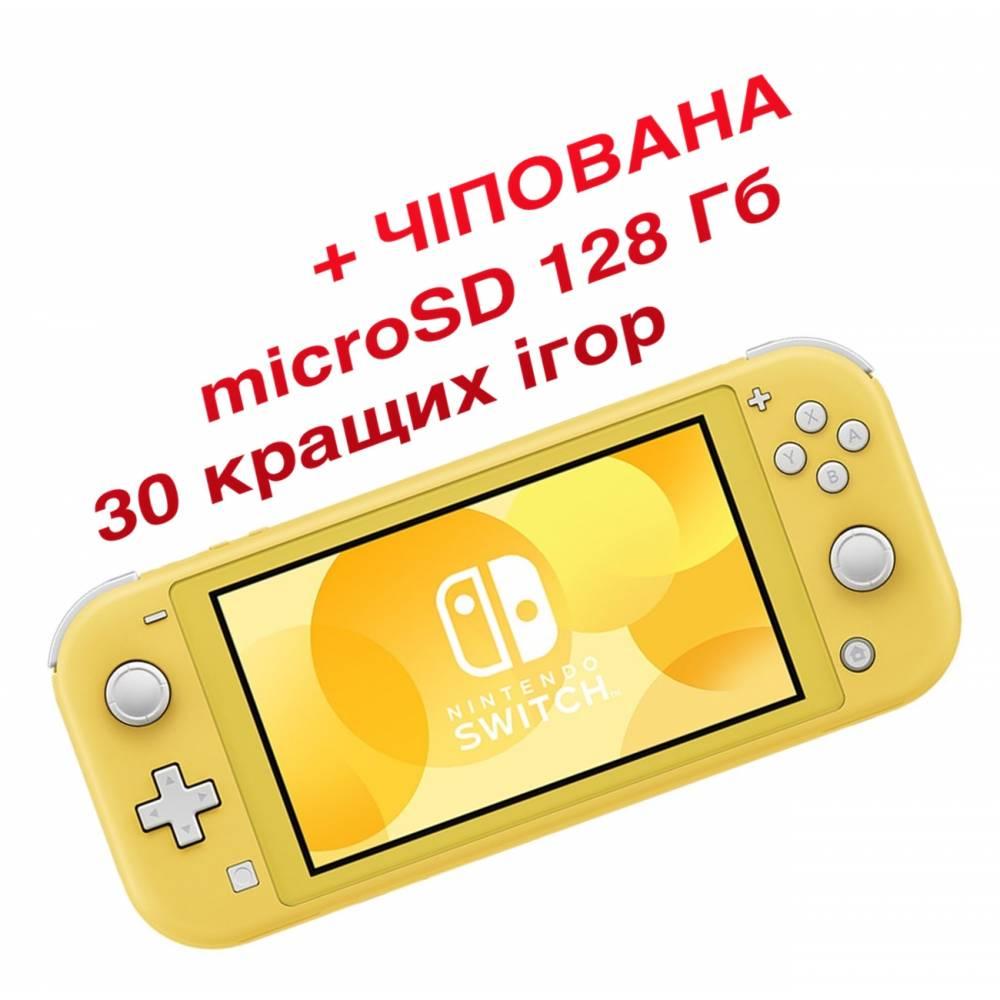 Nintendo Switch Lite Yellow (Чипованная) + microSD 128 Гб + 30 лучших игр (Nintendo Switch Lite) фото 2