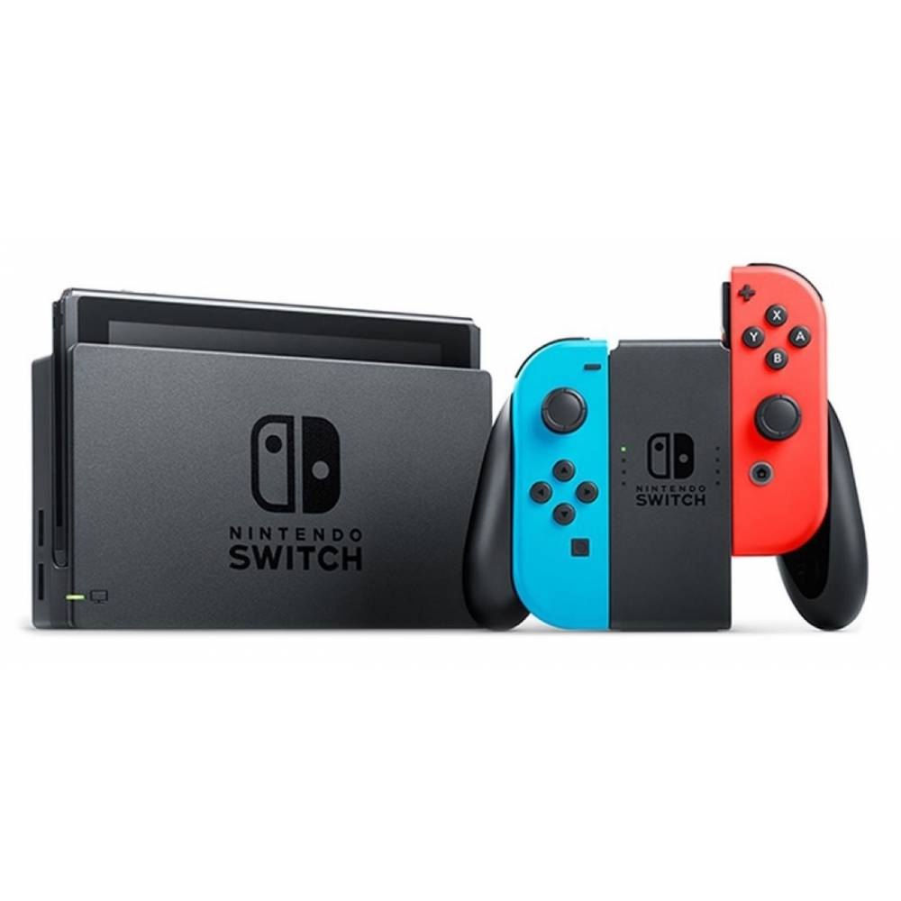 Nintendo Switch V2 with Neon Blue and Neon Red Joy‑Cons (Nintendo Switch V2) фото 3