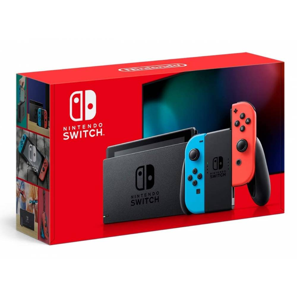 Nintendo Switch V2 with Neon Blue and Neon Red Joy‑Cons (Nintendo Switch V2) фото 5