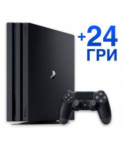 Sony Playstation 4 Pro 1 Тб + 24 игры
