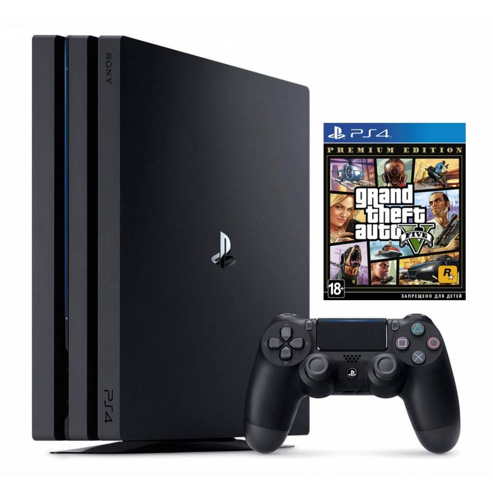 Sony Playstation 4 Pro 1 Тб + Grand Theft Auto V Premium Edition (PS 4 Pro) фото 2