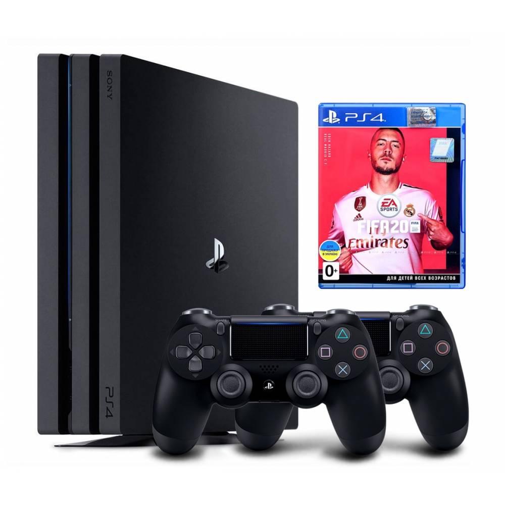 Sony Playstation 4 Pro 1 Тб + Dualshock 4 + FIFA 20 (PS 4 Pro) фото 2