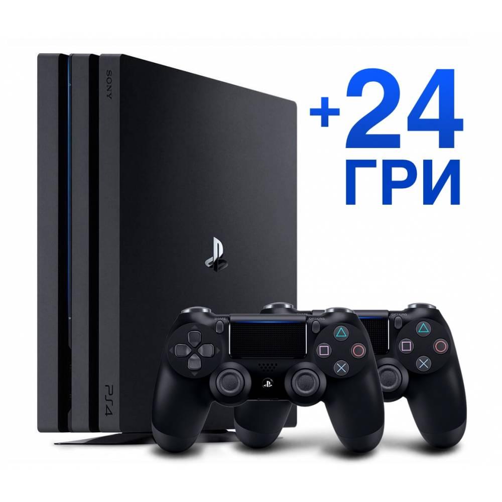 Sony Playstation 4 Pro 1 Тб + Dualshock 4 + 24 гри (PS 4 Pro) фото 2
