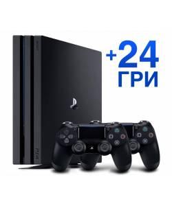 Sony Playstation 4 Pro 1 Тб + Dualshock 4 + 24 игры