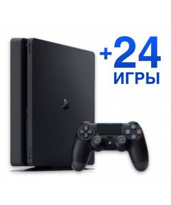 Sony Playstation 4 Slim 500 Гб + 24 гри
