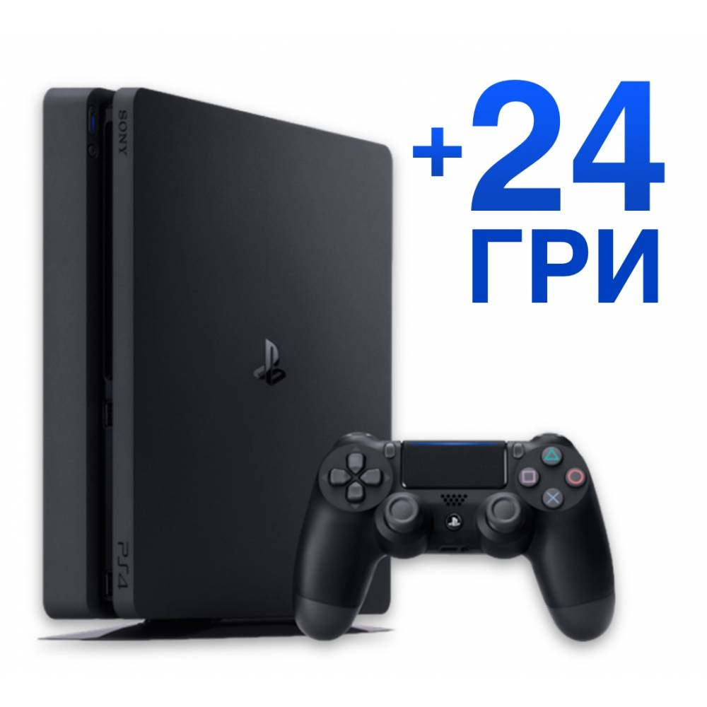Sony Playstation 4 Slim 1 Тб + 24 гри (PS 4 Slim) фото 2