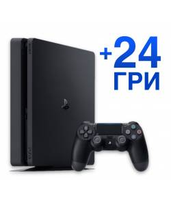 Sony Playstation 4 Slim 1 Тб + 24 гри