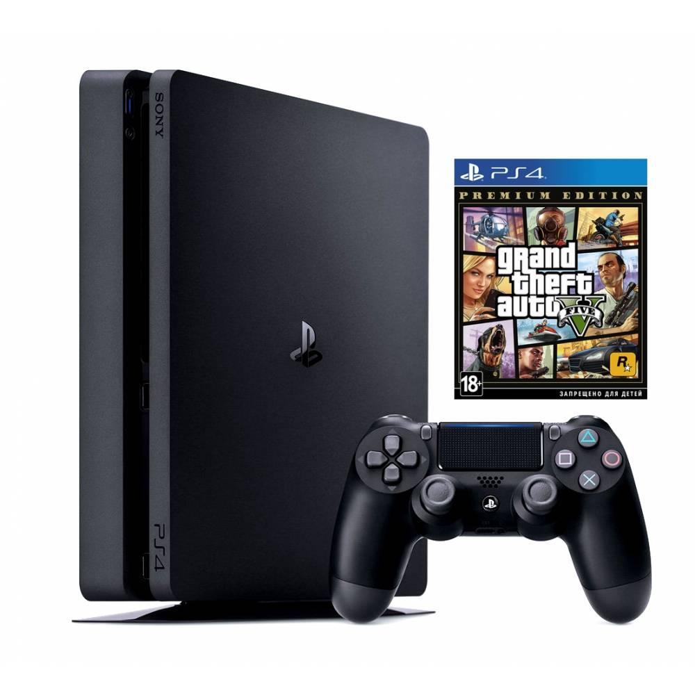 Sony Playstation 4 Slim 500 Гб + Grand Theft Auto V Premium Edition (PS 4 Slim) фото 2
