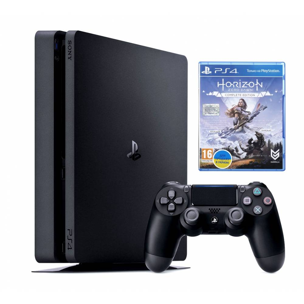 Sony Playstation 4 Slim 500 Гб + Horizon Zero Dawn: Complete Edition (PS 4 Slim) фото 2