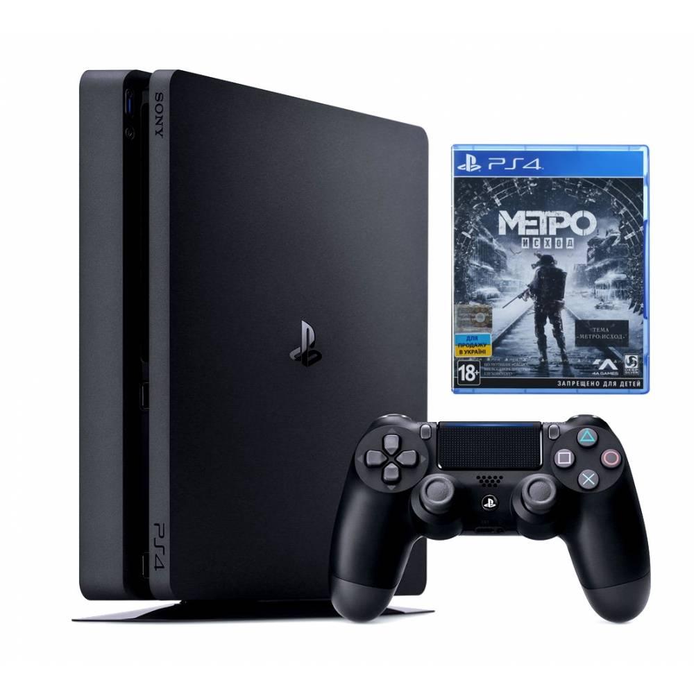 Sony Playstation 4 Slim 500 Гб + Metro Exodus (Metro Вихід) (PS 4 Slim) фото 2