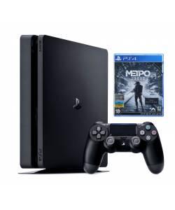 Sony Playstation 4 Slim 500 Гб + Metro Exodus (Metro Вихід)