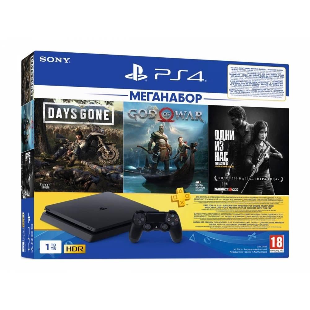 Sony Playstation 4 Slim 1 Тб + 3-месячная подписка PSPlus + Days Gone (Жизнь после) + God of War + The Last of Us Remastered (Одни из нас. Обновленная версия) (PS 4 Slim) фото 2