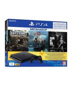 Sony Playstation 4 Slim 1 Тб + 3-месячная подписка PSPlus + Days Gone (Жизнь после) + God of War + The Last of Us Remastered (Одни из нас. Обновленная версия)