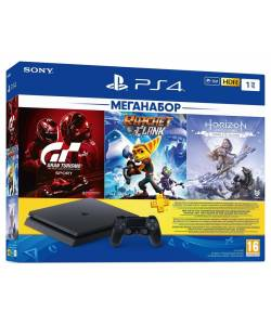 Sony PlayStation 4 Slim 1 Тб + 3-місячна підписка PSPlus + Gran Turismo Sport: Complete Edition + Ratchet & Clank + Horizon Zero Dawn: Complete Edition