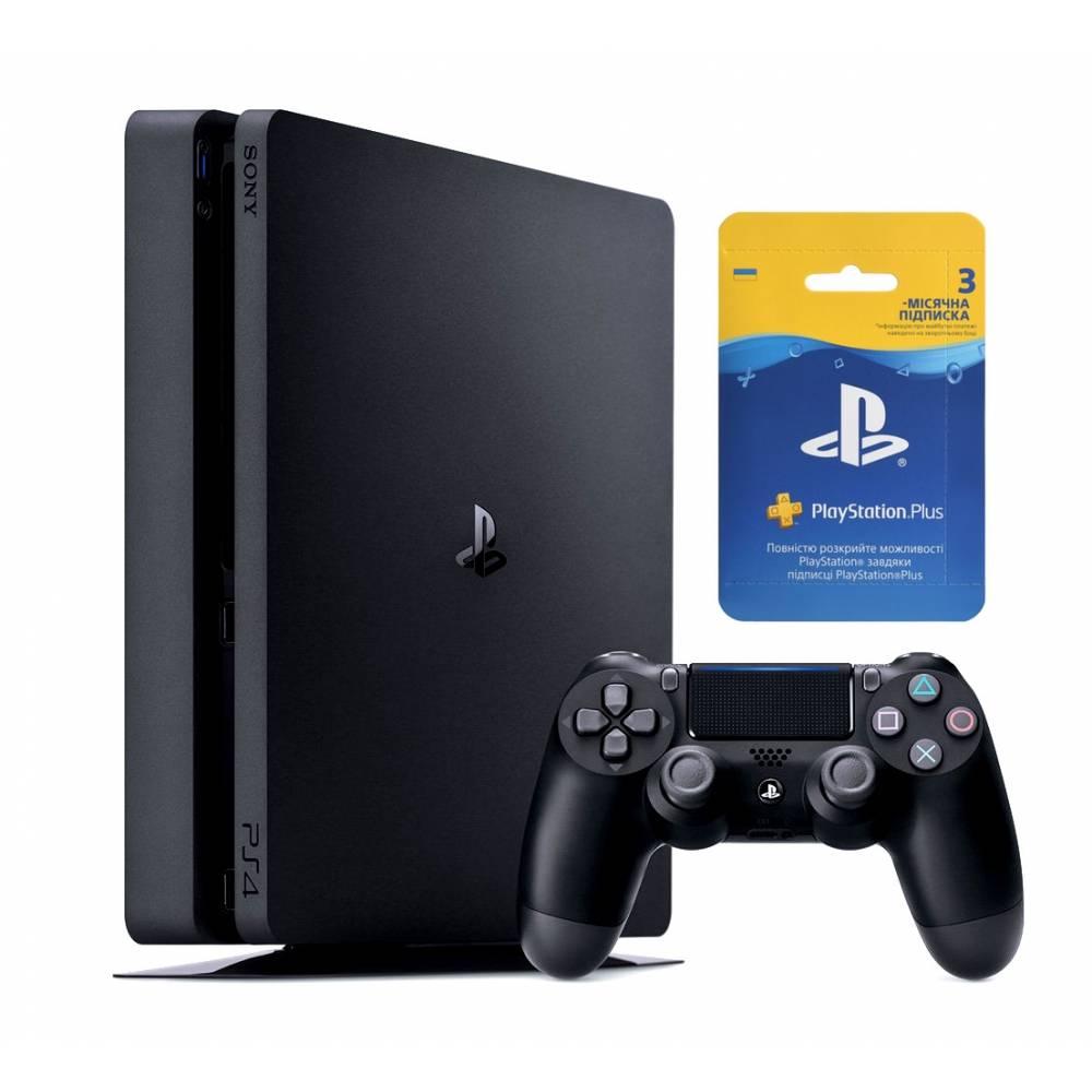 Sony Playstation 4 Slim 500 Гб + 3-місячна підписка PSPlus (PS 4 Slim) фото 2