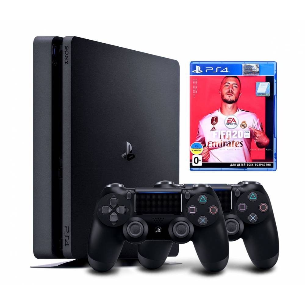 Sony Playstation 4 Slim 1 Тб + Dualshock 4 + FIFA 20 (PS 4 Slim) фото 2