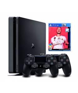 Sony Playstation 4 Slim 1 Тб + Dualshock 4 + FIFA 20