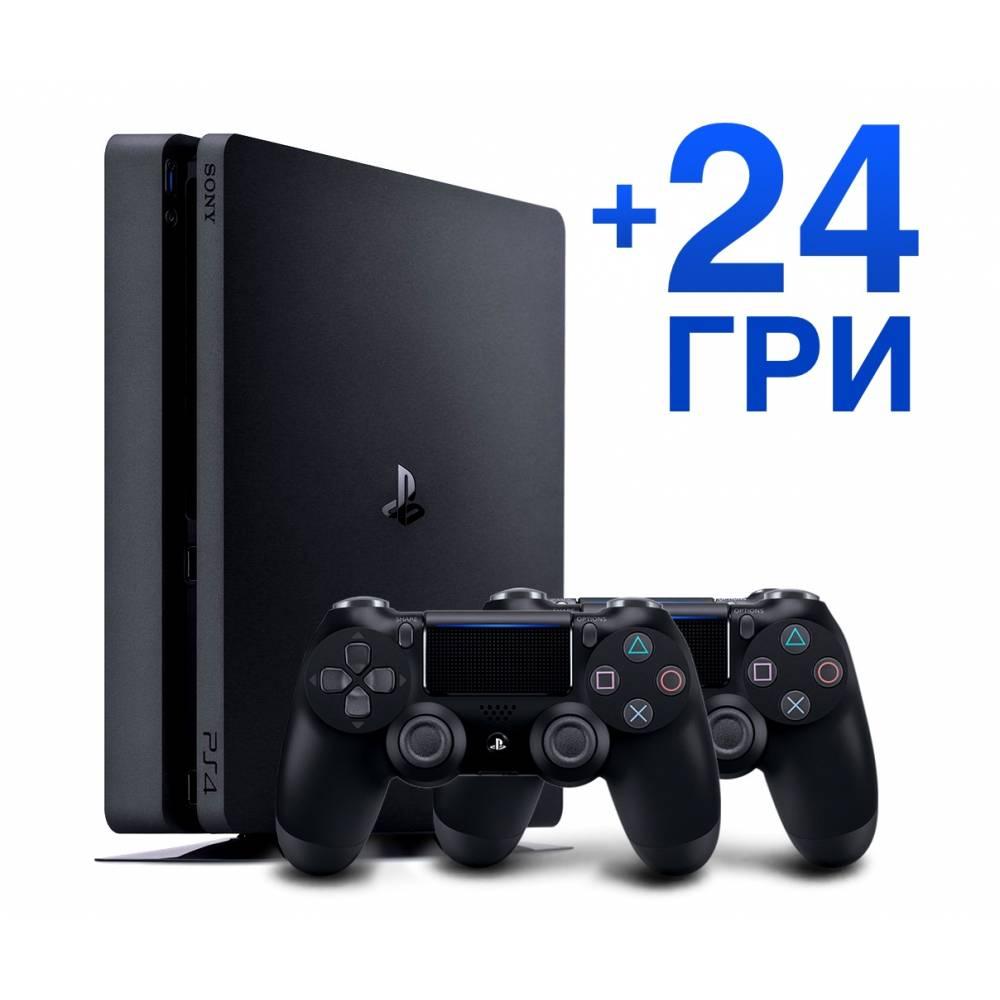 Sony Playstation 4 Slim 1 Тб + Dualshock 4 + 24 игры (PS 4 Slim) фото 2