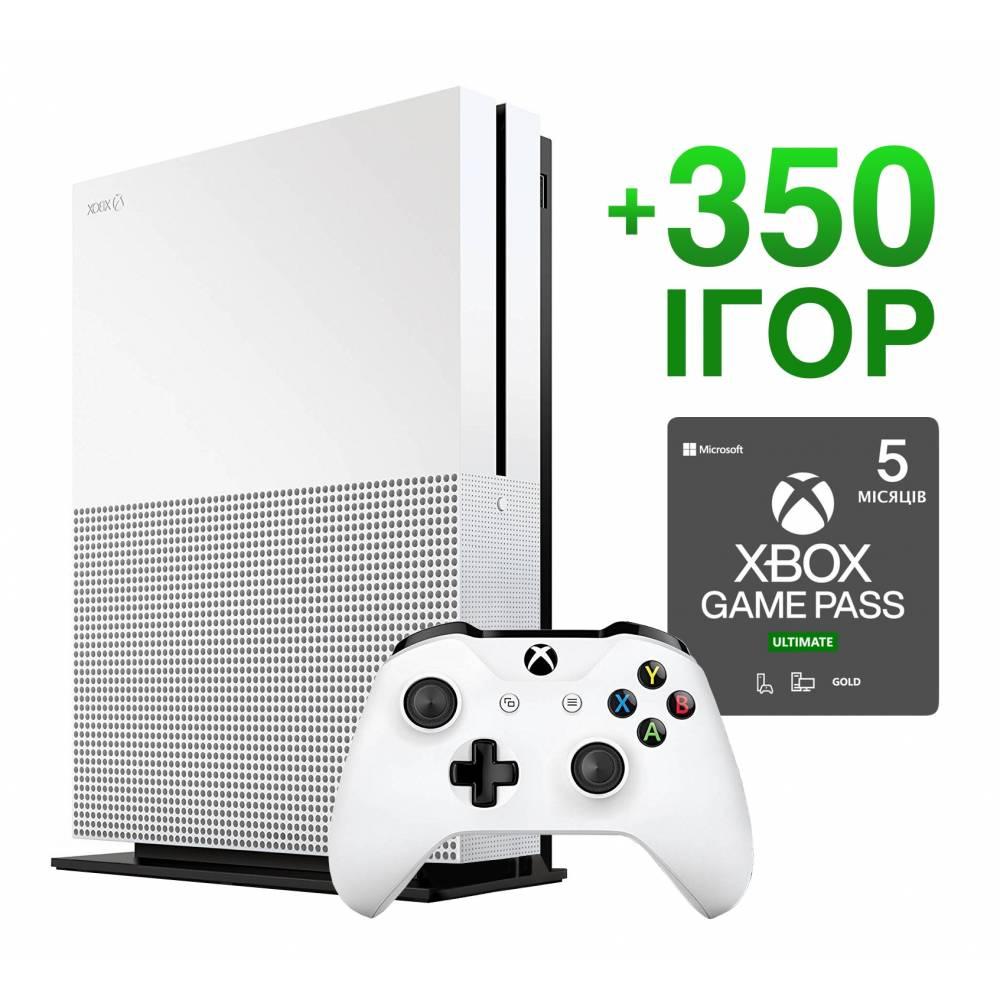 Б/У Microsoft Xbox One S 1 Тб + 350 игр на 5 месяцев (Гарантия 6 месяцев) (Xbox One S) фото 2