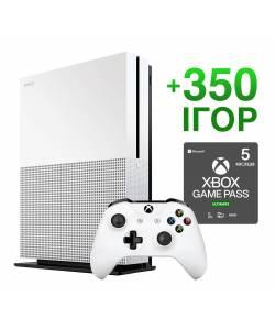 Б/У Microsoft Xbox One S 1 Тб + 350 игр на 5 месяцев (Гарантия 6 месяцев)