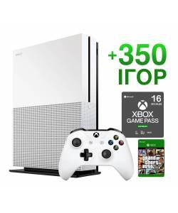 Б/У Microsoft Xbox One S 1 Тб + 350 игр на 16 месяцев + GTA 5 Навсегда (Гарантия 6 месяцев)