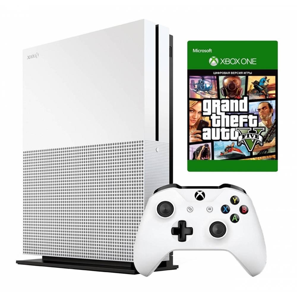 Microsoft Xbox One S 1 Тб + Grand Theft Auto V (Xbox One S) фото 2