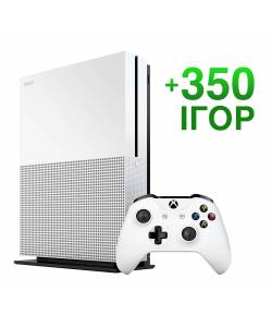 Б/В Microsoft Xbox One S 1 Тб + 350 ігор на 12 місяців (Гарантія 6 місяців)