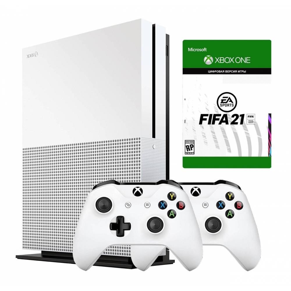 Microsoft Xbox One S 1 Тб + Xbox Wireless Controller + FIFA21 (Xbox One S) фото 2