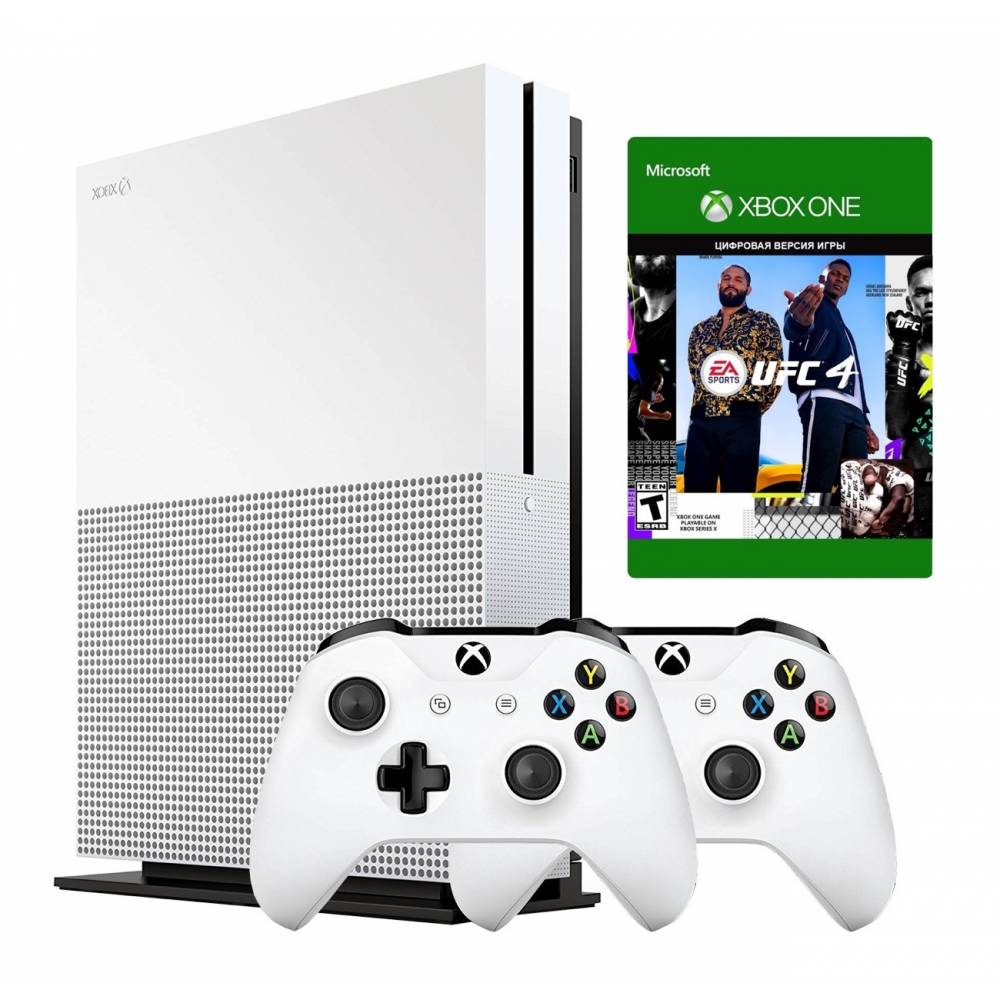 Microsoft Xbox One S 1 Тб + Xbox Wireless Controller + UFC4 (Xbox One S) фото 2