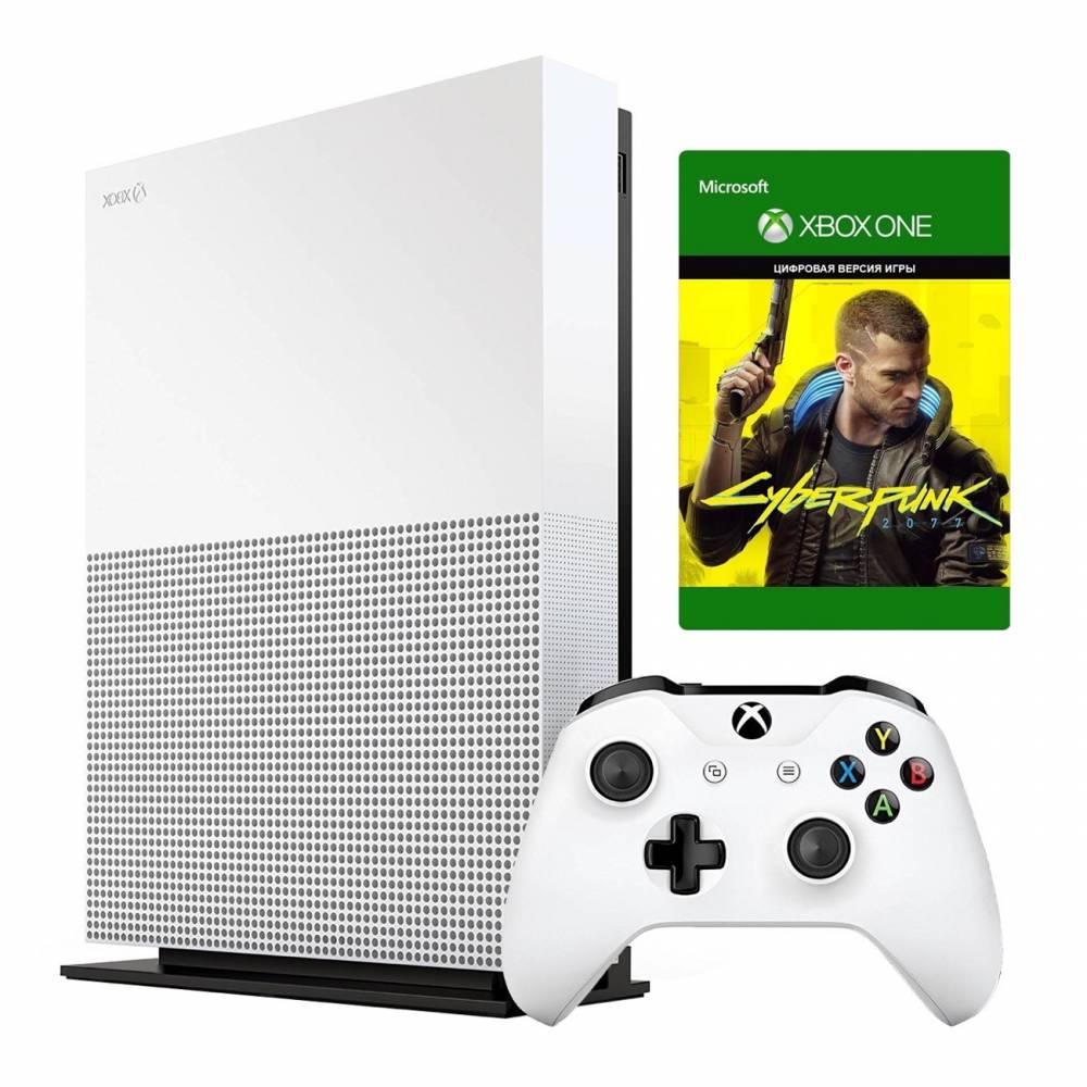 Microsoft Xbox One S 1 Тб All-Digital Edition + Cyberpunk 2077 (Xbox One S All-Digital) фото 2