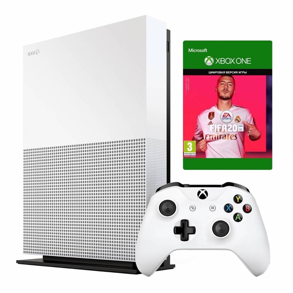Microsoft Xbox One S 1 Тб All-Digital Edition + FIFA20 (Xbox One S All-Digital) фото 2