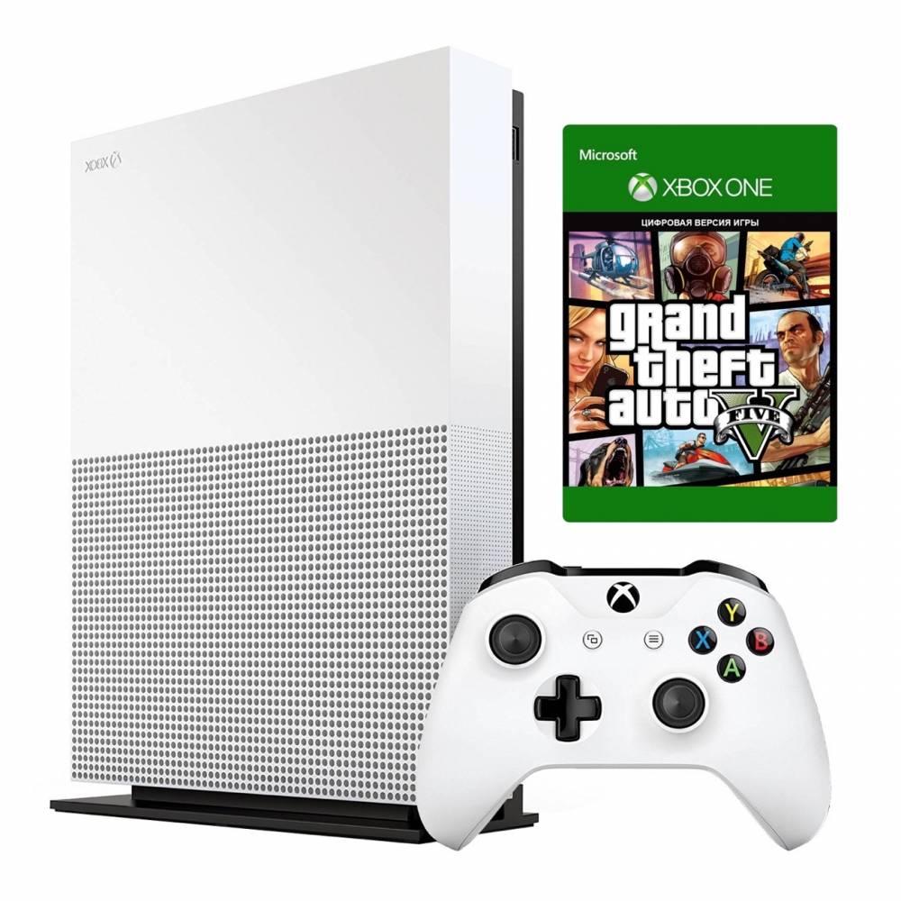 Microsoft Xbox One S 1 Тб All-Digital Edition + Grand Theft Auto V (Xbox One S All-Digital) фото 2