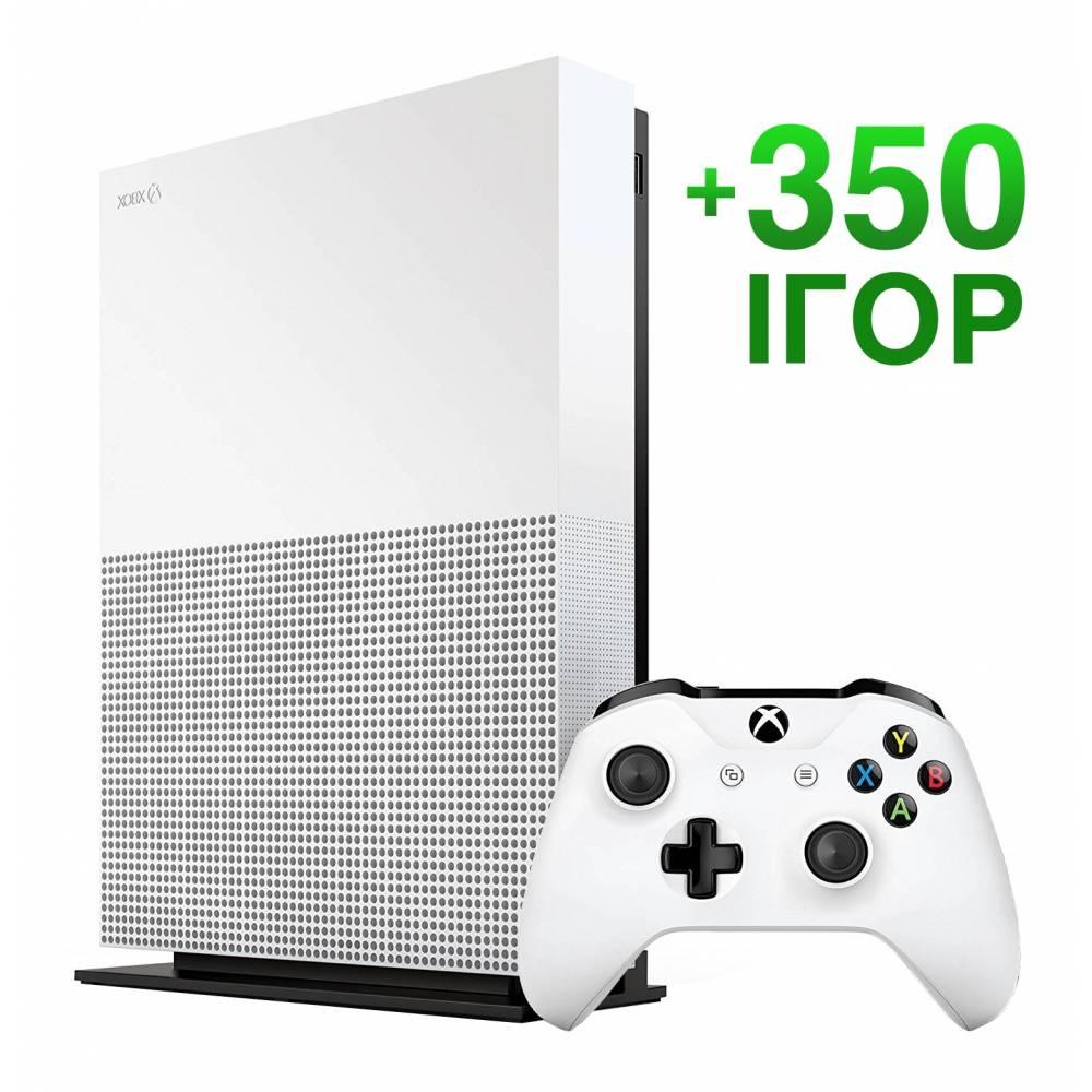 Б/В Microsoft Xbox One S 1 Тб All-Digital Edition + 350 ігор на 12 місяців (Гарантія 6 місяців) (Xbox One S All-Digital) фото 2