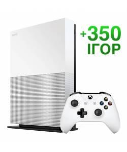 Б/В Microsoft Xbox One S 1 Тб All-Digital Edition + 350 ігор на 12 місяців (Гарантія 6 місяців)