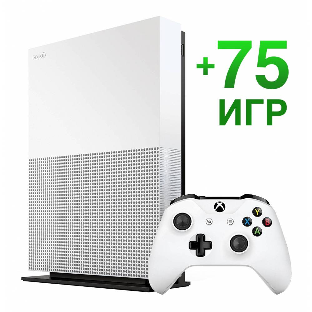 Microsoft Xbox One S 1 Тб All-Digital Edition + 75 ігор (Xbox One S All-Digital) фото 2