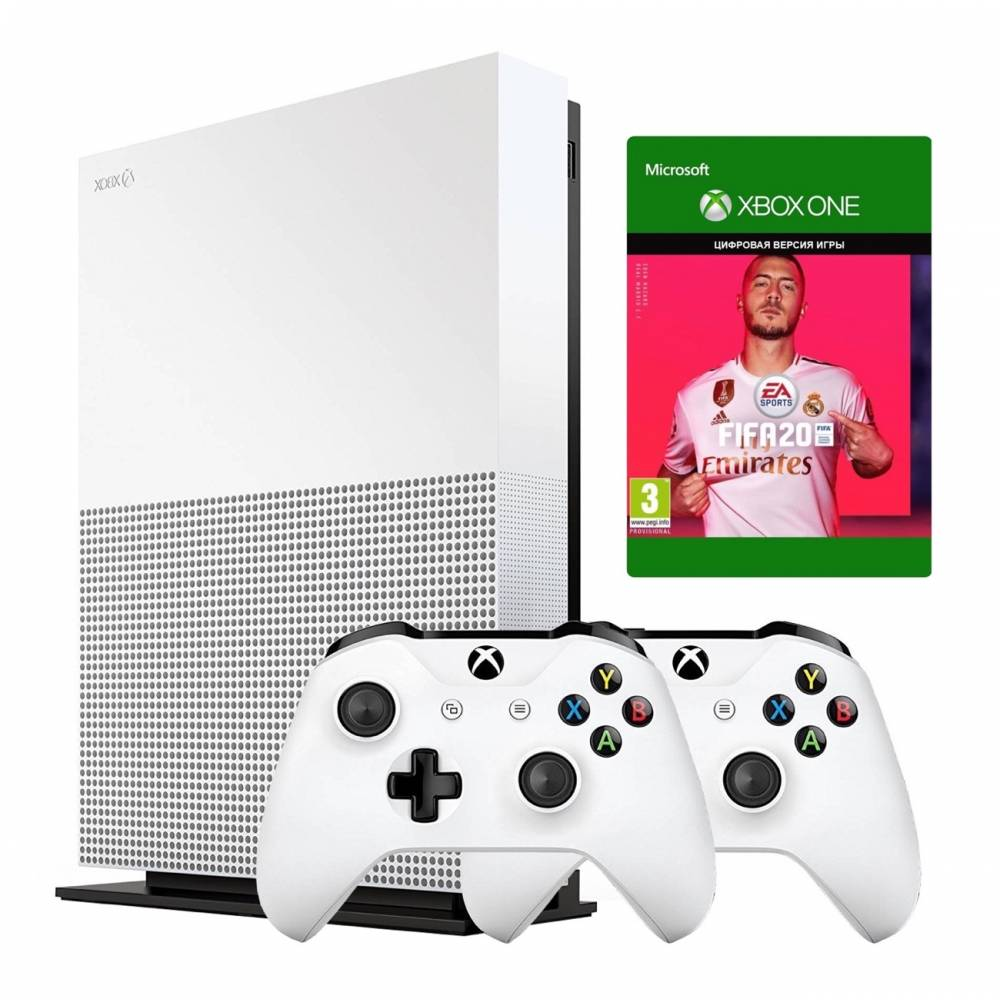 Microsoft Xbox One S 1 Тб All-Digital Edition + Xbox Wireless Controller + FIFA20 (Xbox One S All-Digital) фото 2