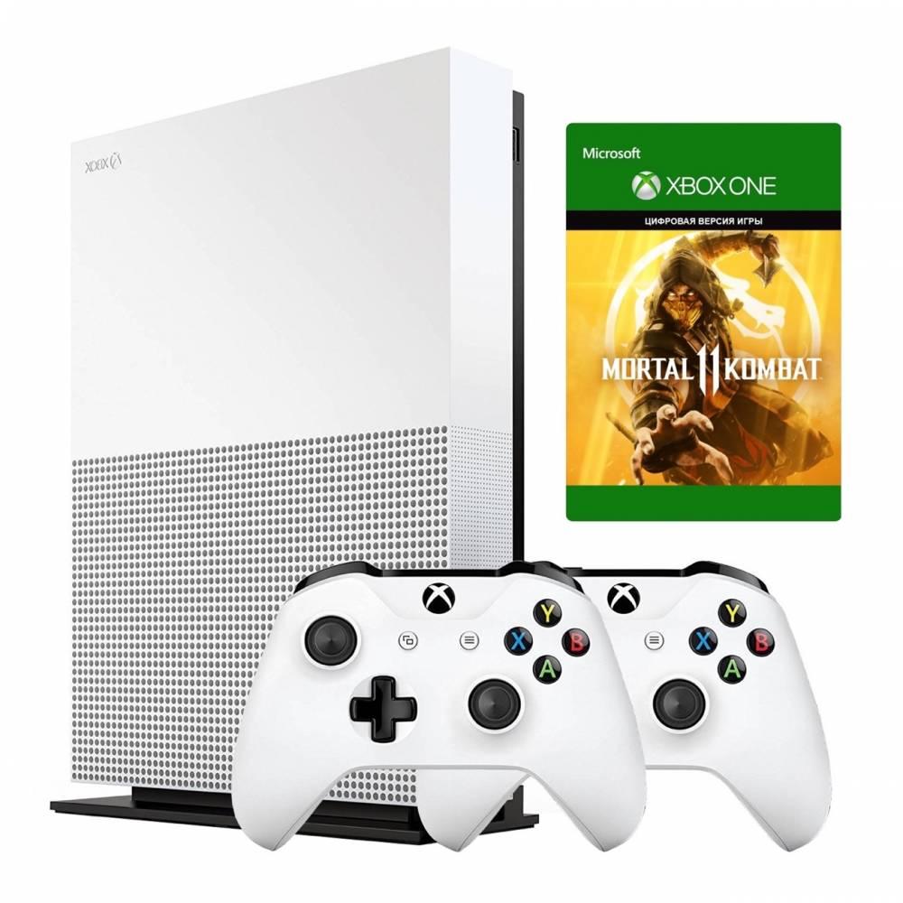 Microsoft Xbox One S 1 Тб All-Digital Edition + Xbox Wireless Controller + Mortal Kombat 11 (Xbox One S All-Digital) фото 2