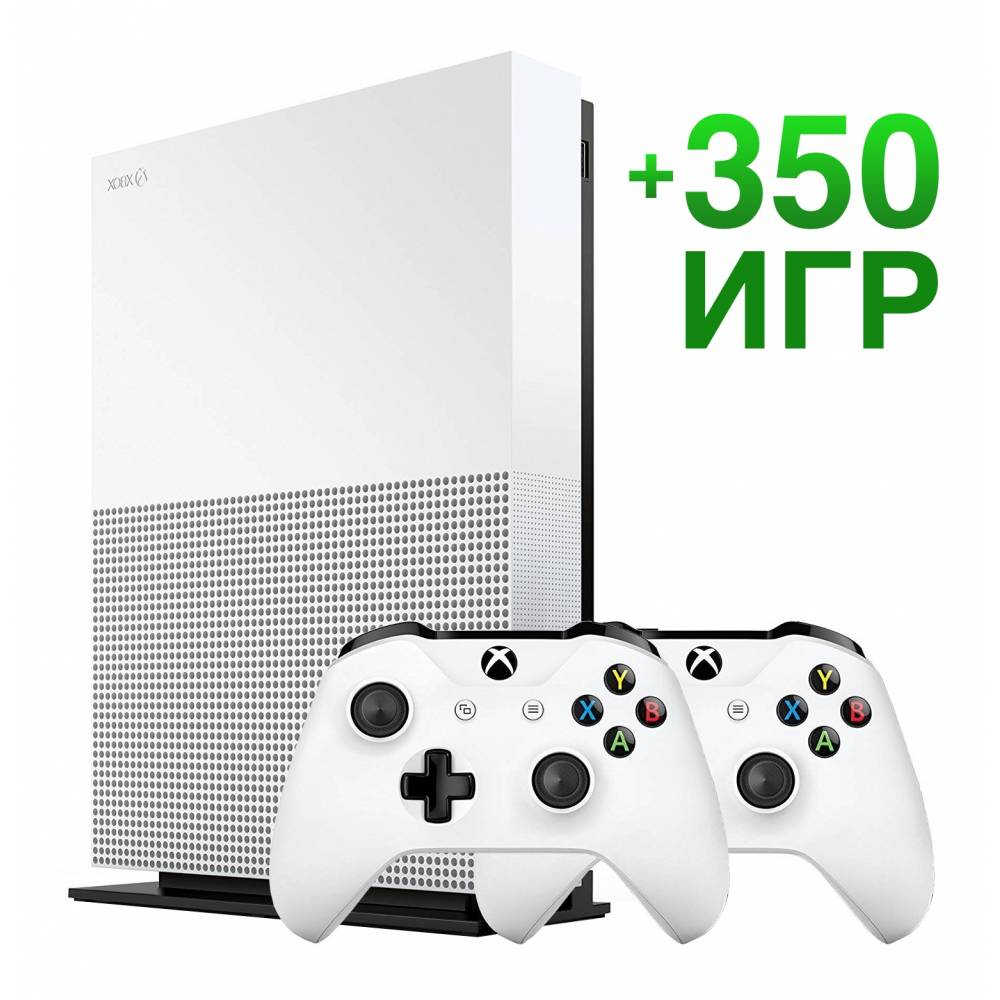 Б/У Microsoft Xbox One S 1 Тб All-Digital Edition + Xbox Wireless Controller + 350 игр на 12 месяцев (Гарантия 6 месяцев) (Xbox One S All-Digital) фото 2