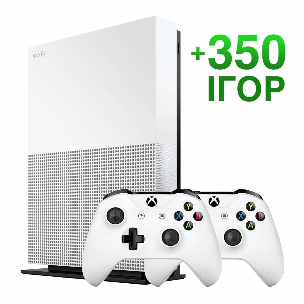 Б/В Microsoft Xbox One S 1 Тб All-Digital Edition + 350 ігор на 6 місяців (Гарантія 6 місяців) (Xbox One S All-Digital) фото 2
