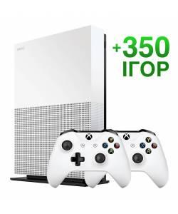 Б/У Microsoft Xbox One S 1 Тб All-Digital Edition + 350 игр на 6 месяцев (Гарантия 6 месяцев)