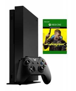 Б\У Microsoft Xbox One X 1 Тб + Cyberpunk 2077 (Гарантия 6 месяцев)