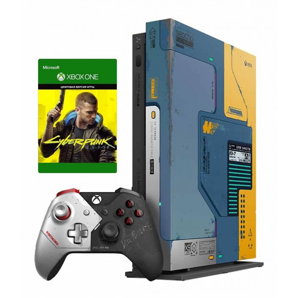 Microsoft Xbox One X 1 Тб Cyberpunk 2077 Limited Edition Bundle (Xbox One X) фото 2