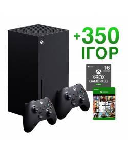 Microsoft Xbox Series X 1 Тб + Xbox Series Wireless Controller + 350 ігор на 16 місяців + GTA 5