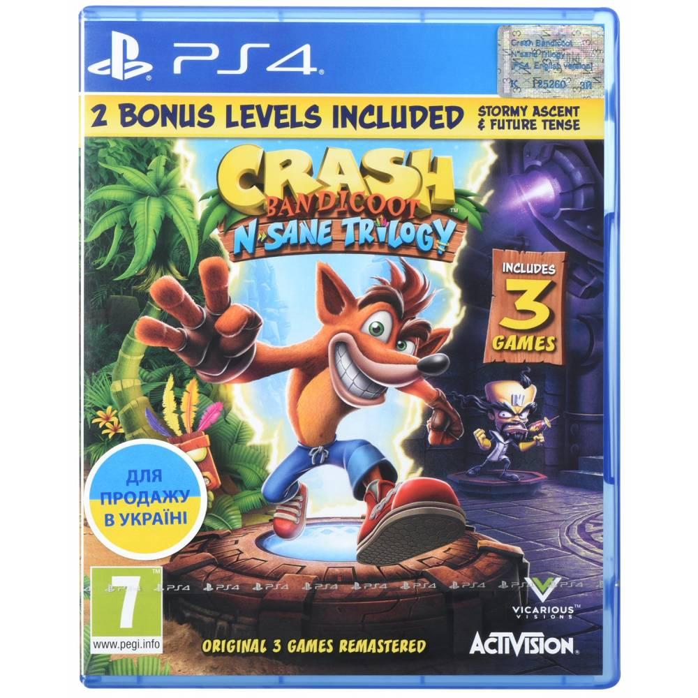 Crash Bandicoot N. Sane Trilogy (PS4) (Англійська версія) (Crash Bandicoot N. Sane Trilogy (PS4/PS5) (EN)) фото 2